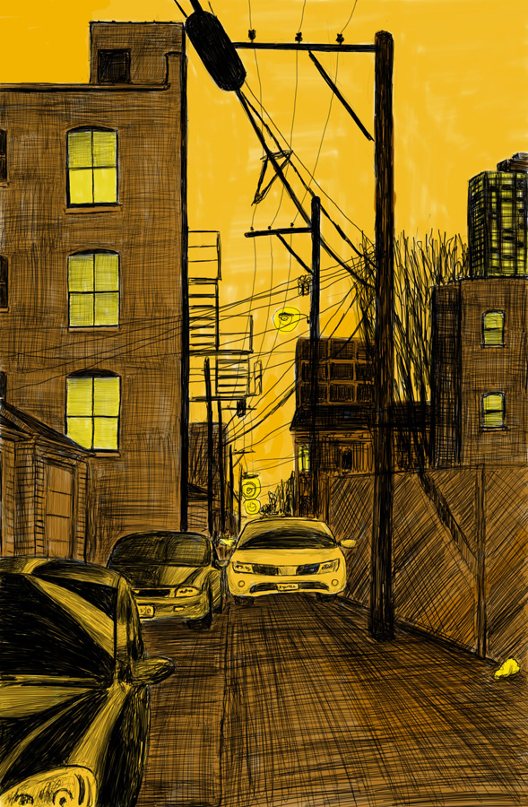 Alley Study 32 with Cars
