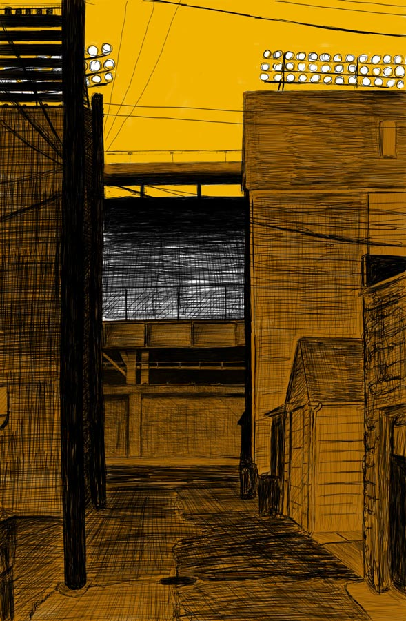 Alley Study 34 with Ballpark