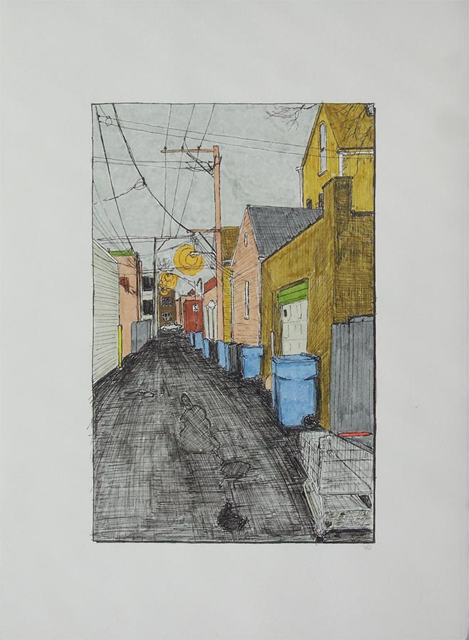 Alley with Fireboat