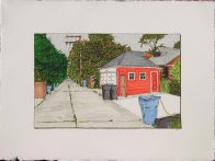 Alley with Red Garage