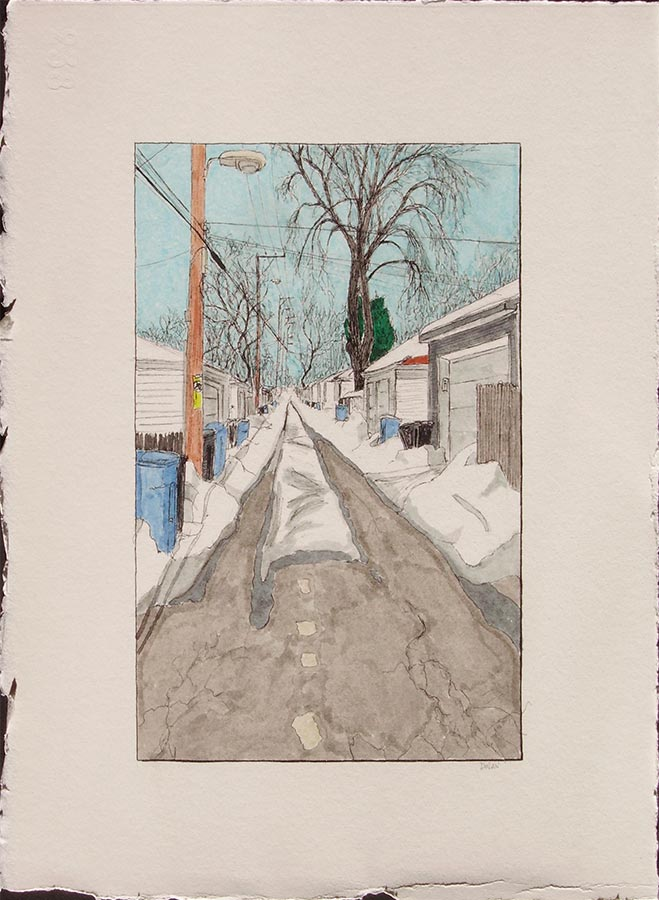 Alley with Snow