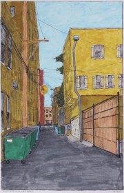 Alley with Villa Over Garage