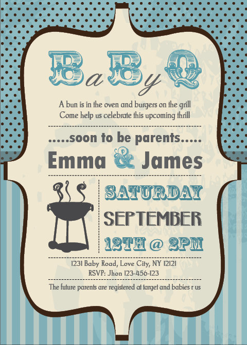 bbq baby shower invitations wording, Baby shower