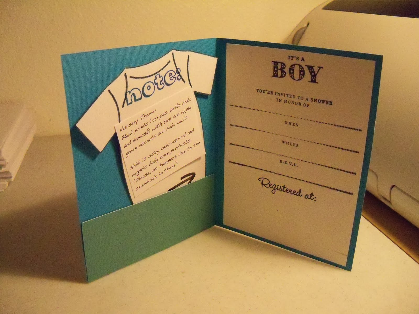 Make Baby Shower Ivitations With Cheap Budget