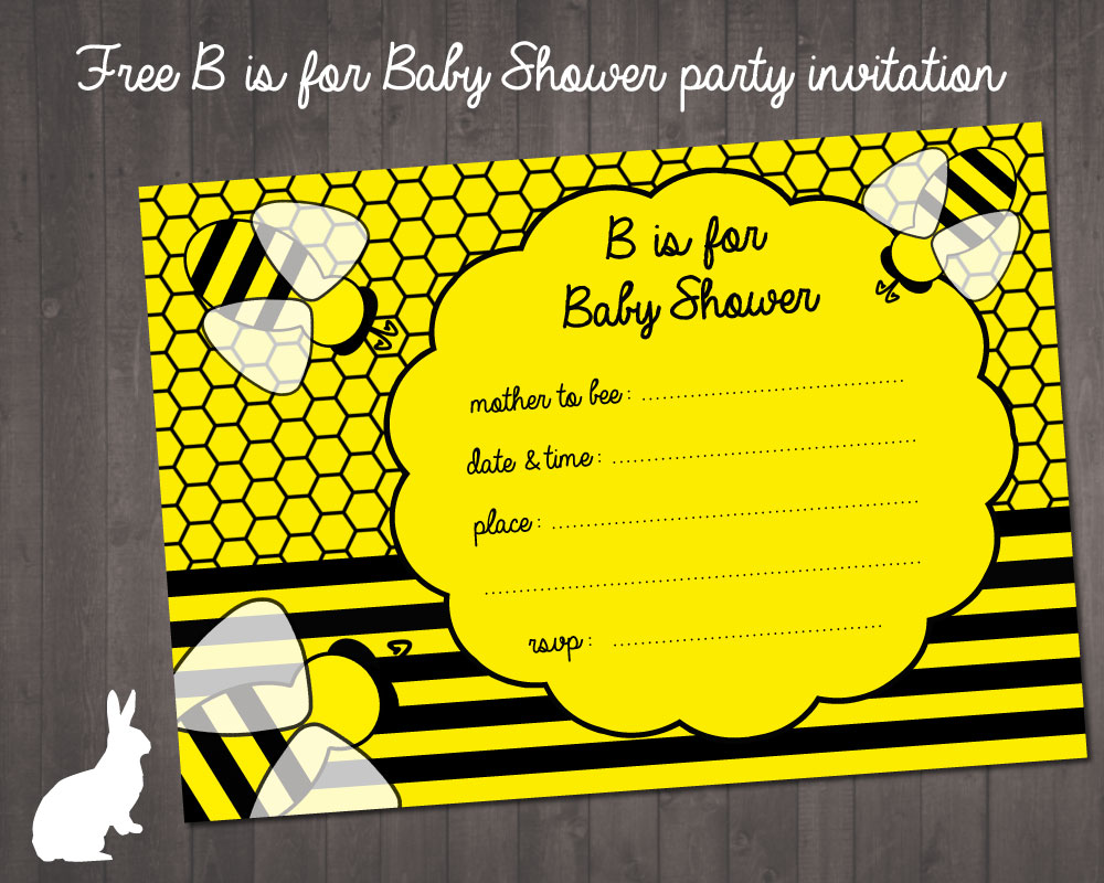 bumblebee baby shower invitations