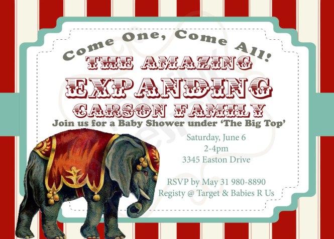 Best Carnival Themed Baby Shower Invitations Mf63