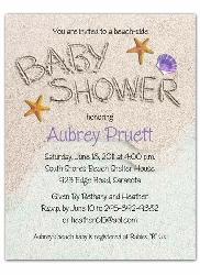 Beach Baby Shower Invitations 2