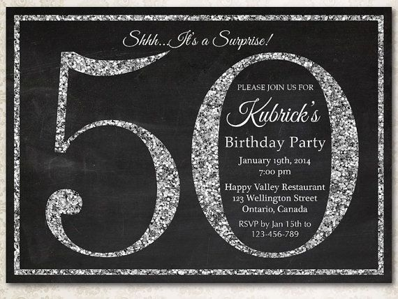 ideas for 50th birthday invitations