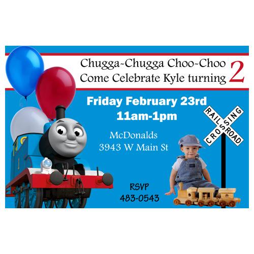 thomas the train photo birthday
