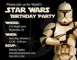 star wars birthday invitation wording