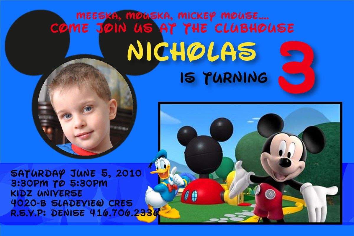 3 year old birthday party invitation
