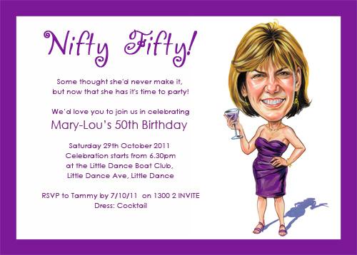 funny 50th birthday invitation wording