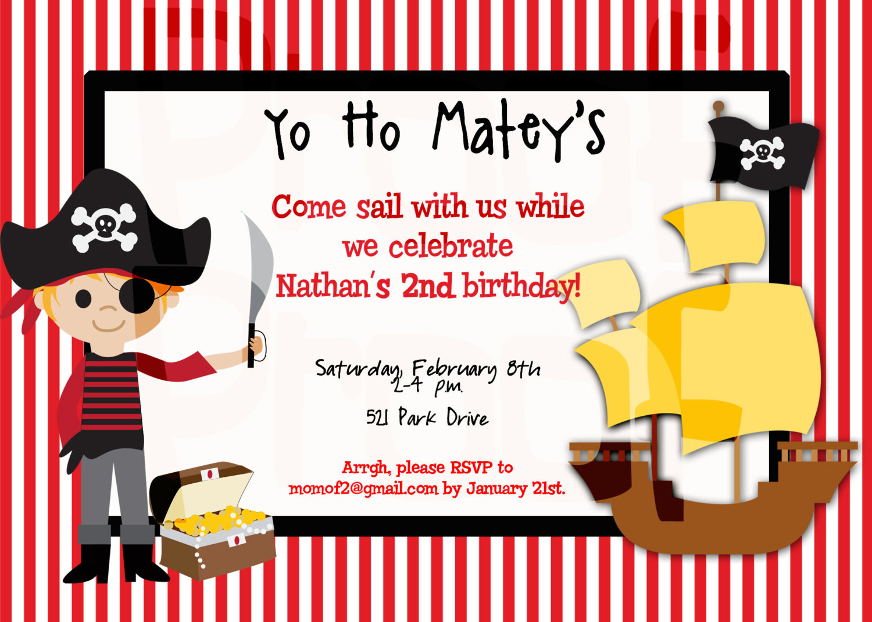 free printable pirate birthday party