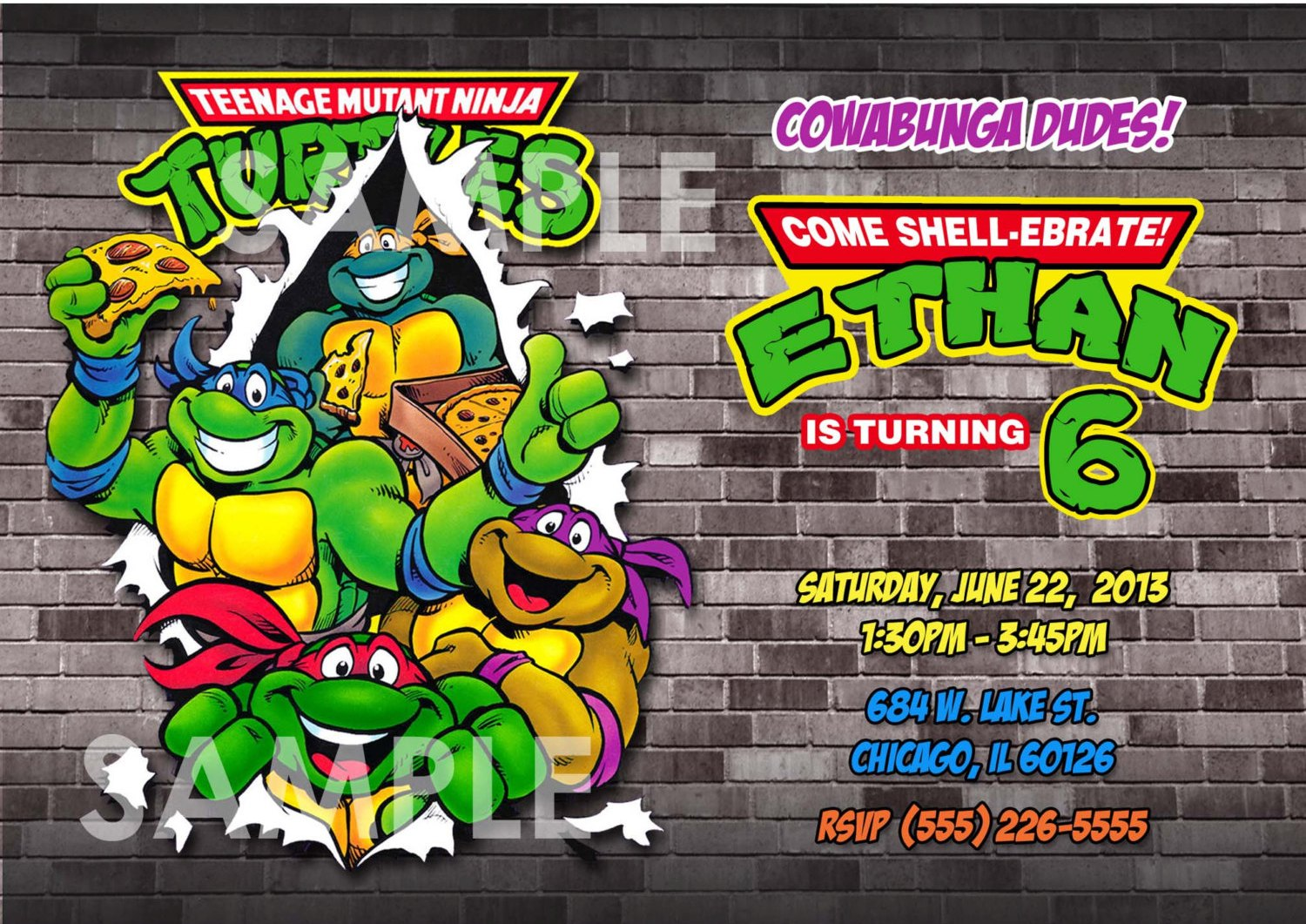 teenage mutant ninja turtles birthday