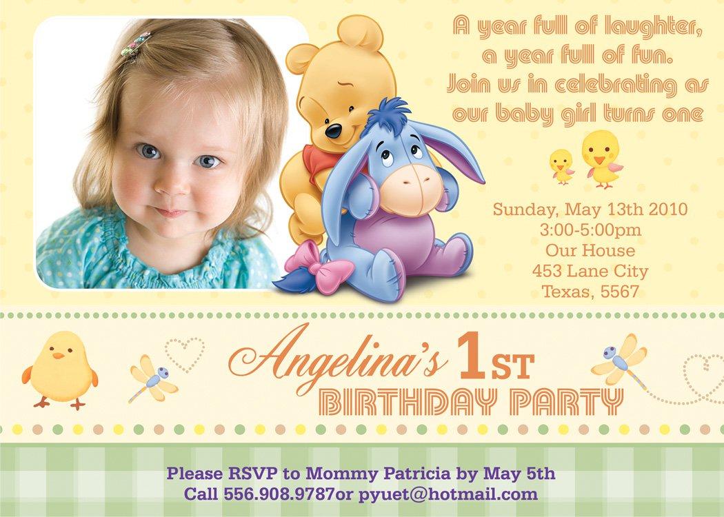 one year old birthday invitations