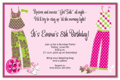 free printable slumber party birthday