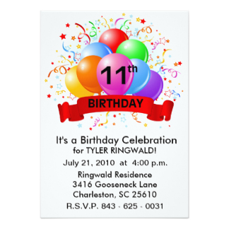 free birthday party invitation