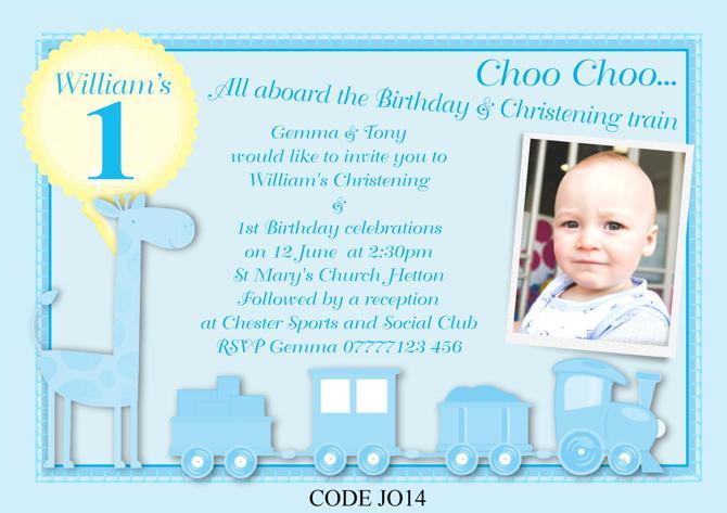 Christening Invitation Card Template