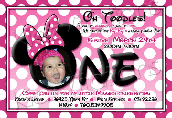 free printable minnie mouse 1st