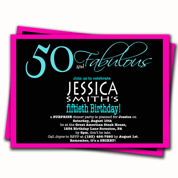 Surprise 50th Birthday Invitations Free