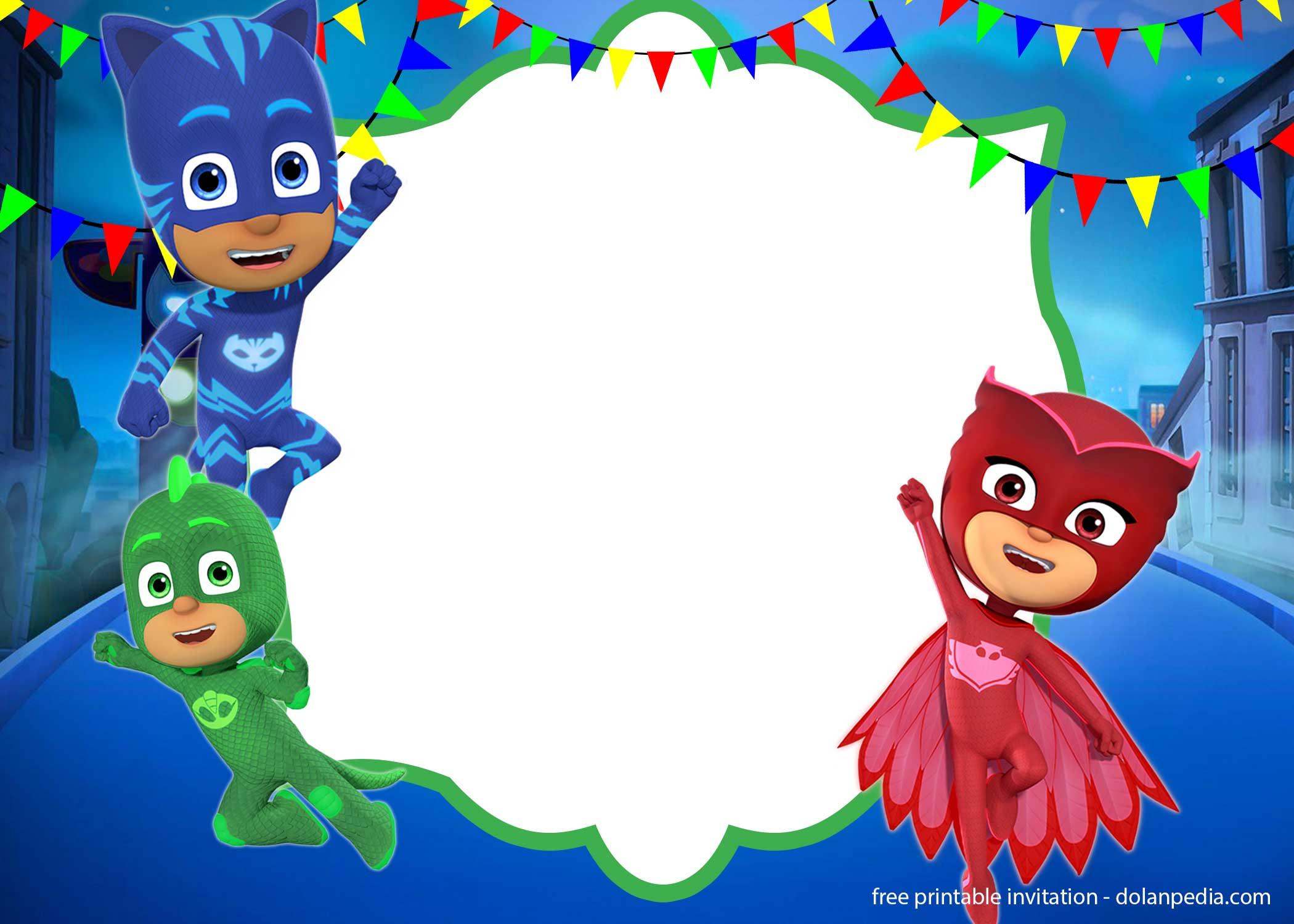 Blank Pj Masks Background