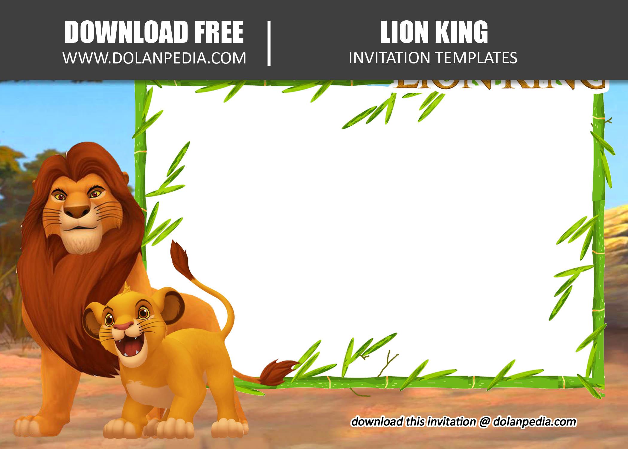 Free Printable Lion King Invitation Template