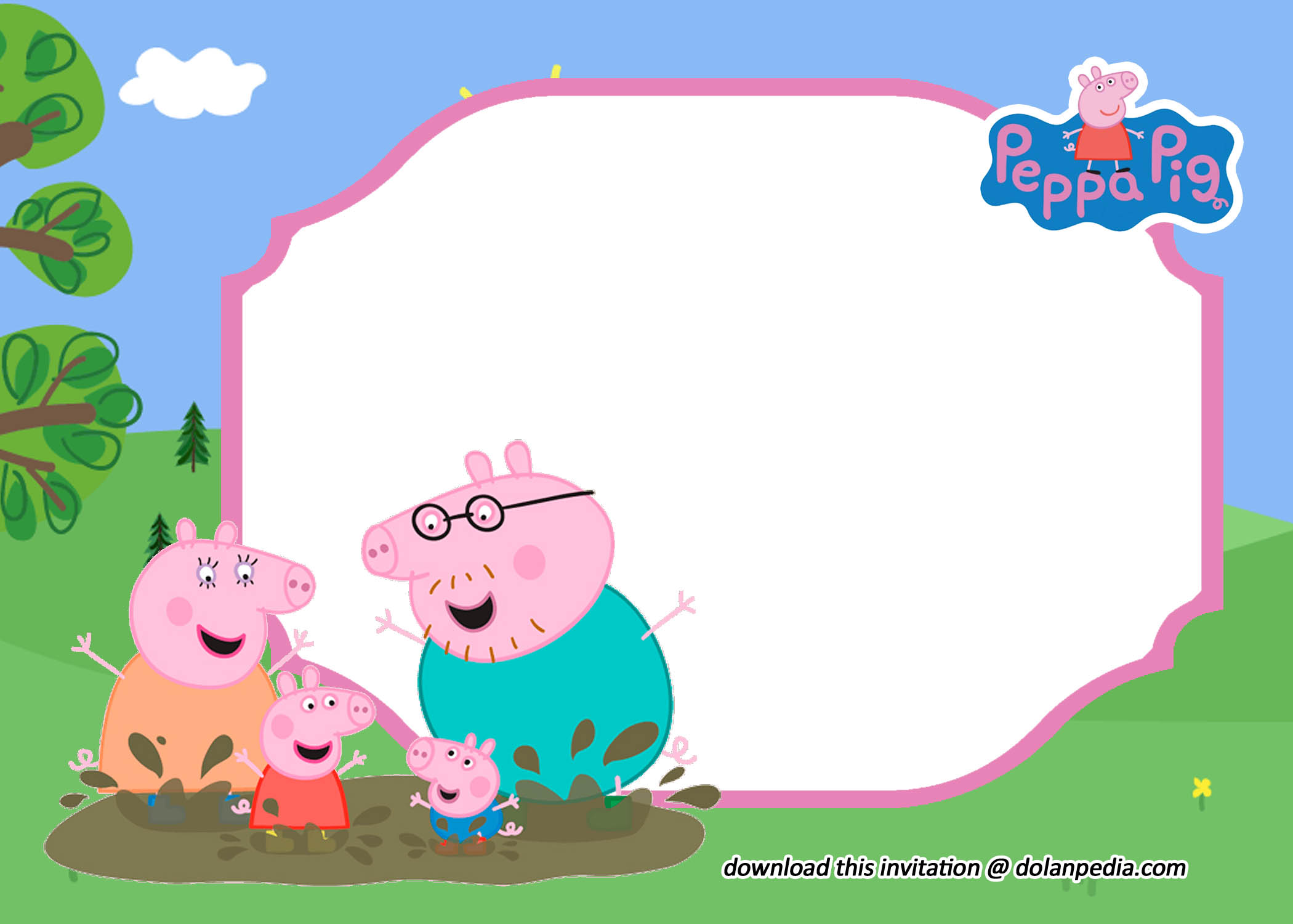 free editable peppa pig invitation