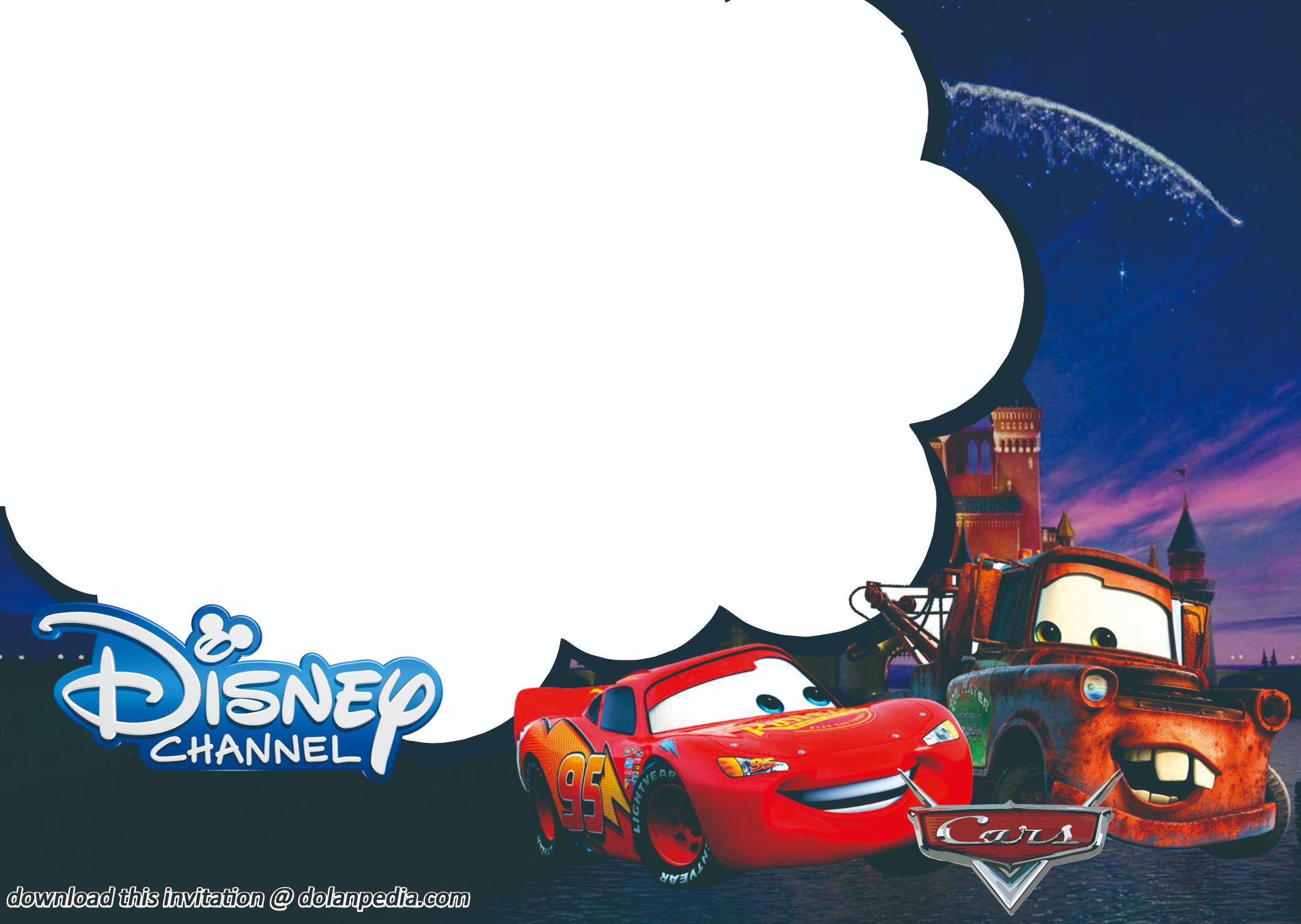 free printable disney invitation