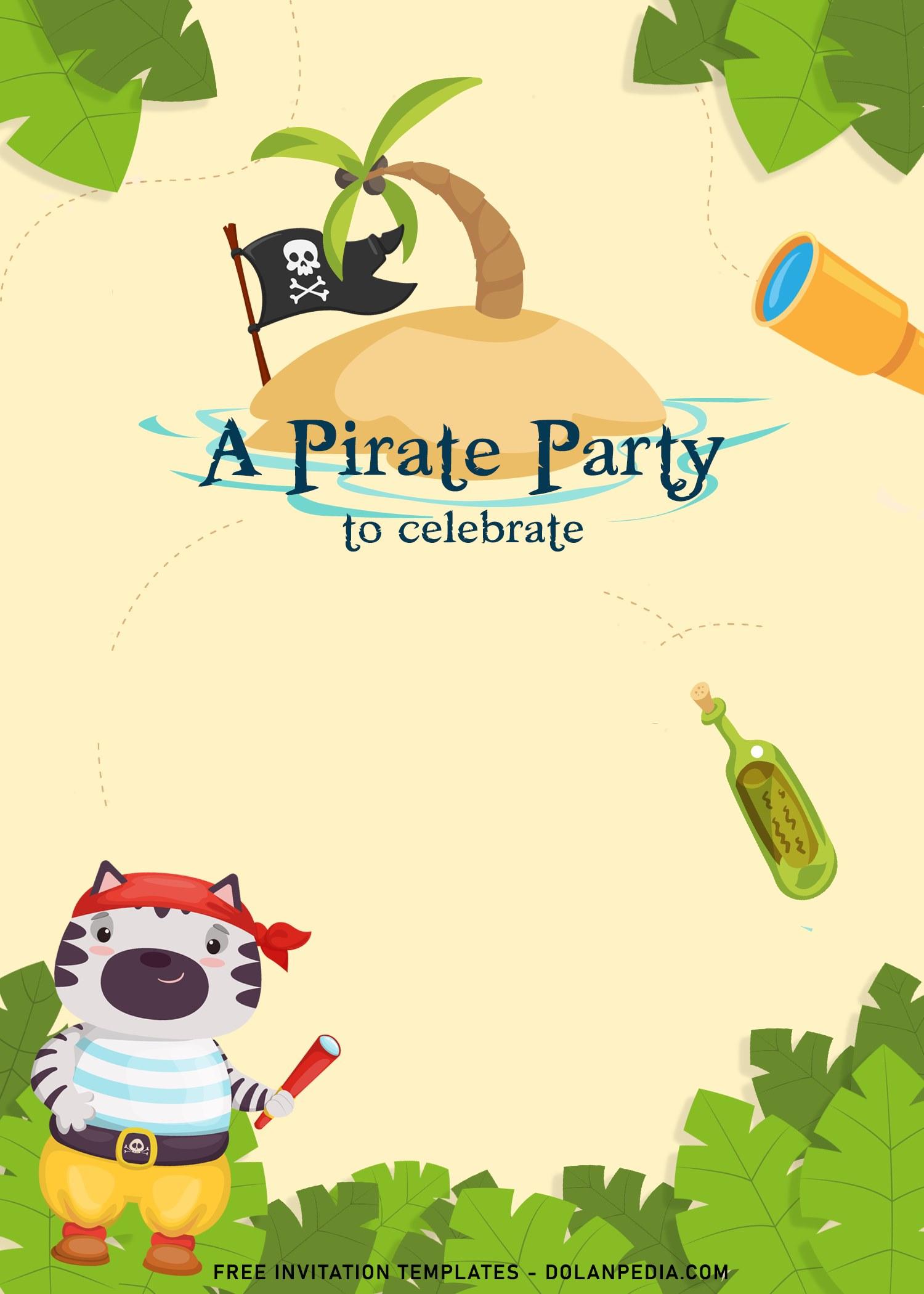 https www dolanpedia com 8 fun pirate birthday invitation templates html