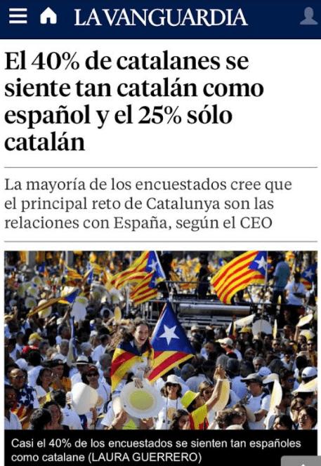 Trobi les diferències entre el titular i la foto de La Vanguardia