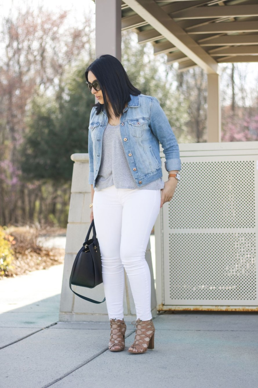 neutrals white denim