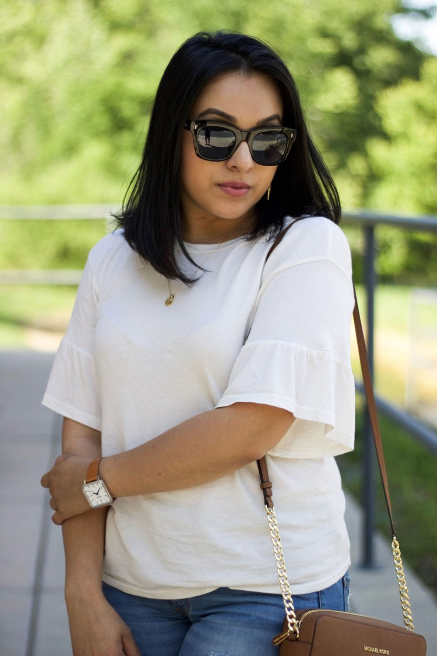 ruffle sleeve outfit