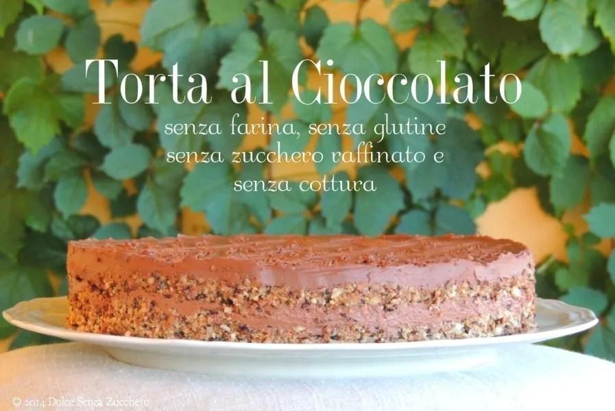 Torta al Cioccolato, Nocciole e Ganache Golosa (Raw/Crudista e Senza Glutine)