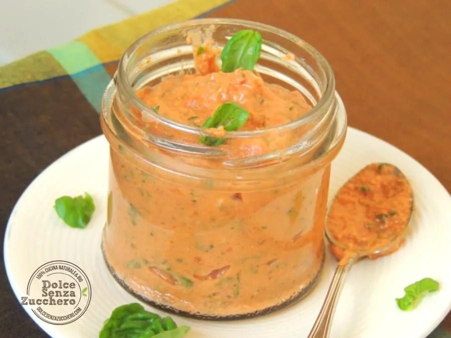 Pesto rosso al basilico, mandorle e pomodoro (3)