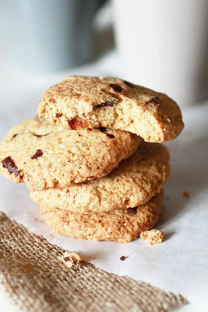 Biscotti con Gocce di Cioccolato Senza Glutine con Farina di Avena