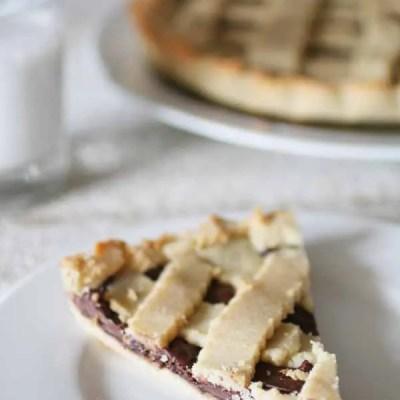 Crostata con Crema alla Nocciola Senza Zucchero