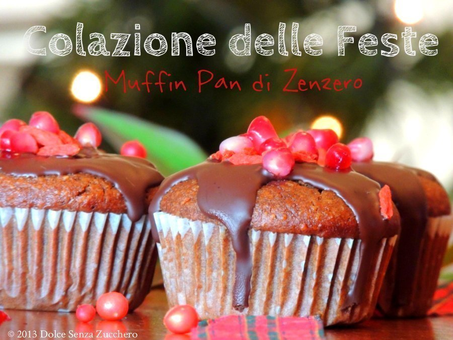 "Muffin Natalizi ""Pan di Zenzero"" Senza Farina e Senza Zucchero"