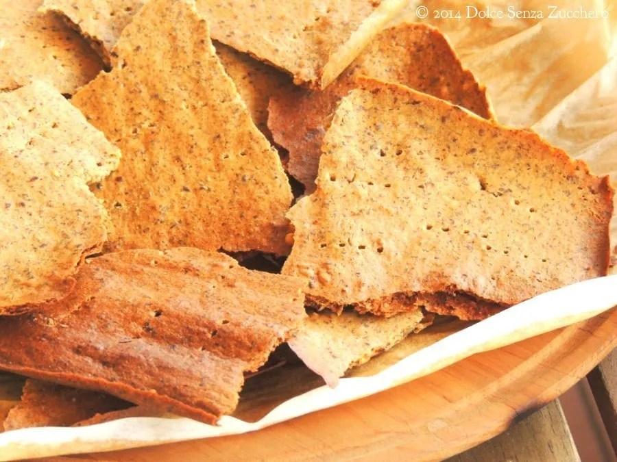 Semplici crackers al kamut integrale, farina di ceci e semi di lino (3)