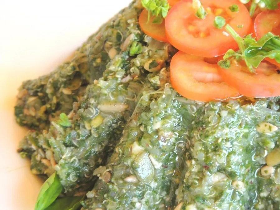 Torta Vegan con Bietole Quinoa Nocciole e Semi (2)
