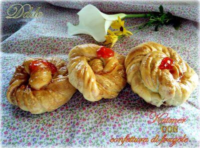 Katmer(Hashasli) con confettura di fragole