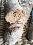 Pane a lievitazione naturale con farina integrale e fiocchi d'avena