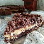 Sbriciolata al cacao,cocco,mascarpone e nutella