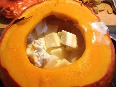 Zucca con formaggi 1