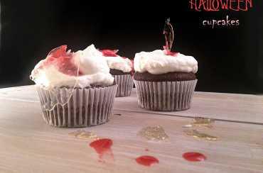 Splatter cupcakes per Halloween che si avvicina
