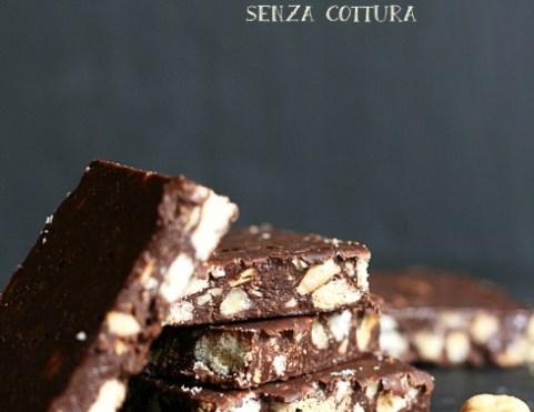 Brownies alle nocciole senza cottura e senza glutine