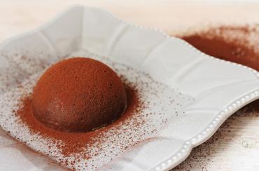 Budino al cacao con i loti senza glutine e senza zucchero