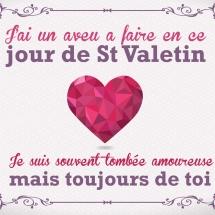 Carte St Valentin pour lui
