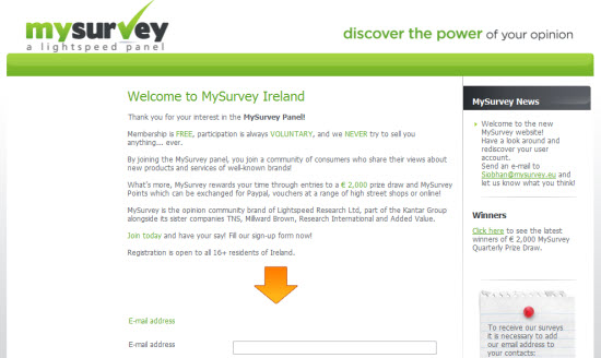 MySurvey Paid Surveys