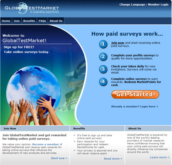 GlobalTestMarket Paid Surveys