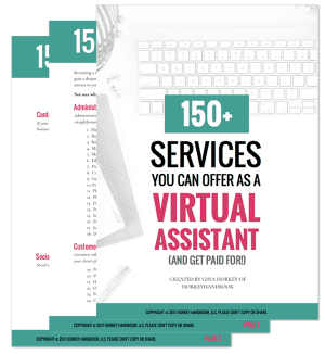 a list of over 150 different services you can get paid to perform as a virtual assistant